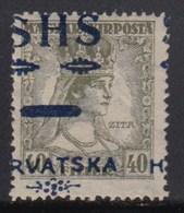 Yugoslavia - SHS - Issue For Croatia 1918 Definitive, Error - Moved Overprint, MH (*) Michel 87 - Croatie