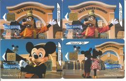 4 Télécartes De FRANCE - Walt Disney Studio - 50 U  Différentes ( Mickey Minnie Dingo N° 1176 1177 1178 ) - Disney