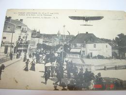 C.P.A.- Paray (71) - Aviation - Vol De Tabuteau - Avenue De La Gare - Café Truchet - 1912 - SUP (AO 3) - Paray Le Monial