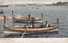 Postcard Maltese Boats Malta By John Critien Early Undivided Back My Ref  B12384 - Malta