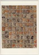 CP SUISSE  Reconstitution D'une Planche Lithographique De Cent ( 6 De Zurich ) 1843 - Timbres (représentations)