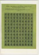 CP SUISSE  ( Aigle Clain, Genève, 1847 ) Seule Feuille Originale De Timbres Cantonaux Ayant été Conservée - Timbres (représentations)