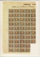 CP SUISSE  Partie De Feuille Avec 48 Timbres  5 De Vaud , Genève 1850 - Francobolli (rappresentazioni)