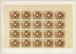 CP SUISSE  Partie De Feuille Du Timbre Winterhour  1850 - Timbres (représentations)