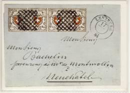 CP SUISSE  Orts-Post Avec Croix Encadrée  1850, Le Premier Timbre Fédéral - Timbres (représentations)