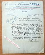 """Scieries & Caisseries """"Casia' Joseph Morraye & Van De Cauter Frères, Chaussée De Bruges, Gent 1931 - Belgium"""