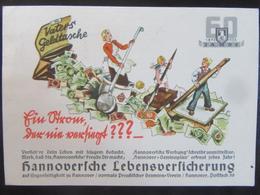 Postkarte Postcard Hannoversche Lebensversicherung Mit Sonderstempel - Allemagne