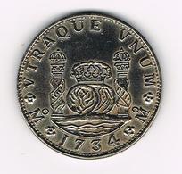 &-  MEXICO  8 REALES 1734 ( COPIE ? ) - Mexique