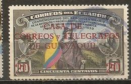 Equateur Ecuador 1942 Drapeau Flag US Constitution Obl - Ecuador
