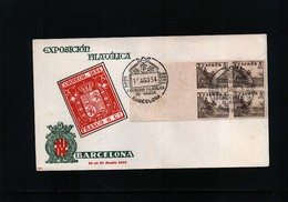 Spain / Spanien 1954 Philatelic Exibition Interesting Cover - 1951-60 Briefe U. Dokumente