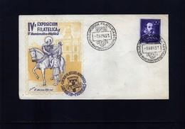 Spain / Spanien 1953 Philatelic Exibition Interesting Cover - 1951-60 Briefe U. Dokumente