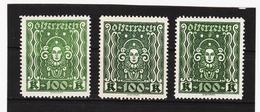 NEU1177 ÖSTERREICH 1922 Michl 401 25 X 29,5 3 FARBEN SIEHE ABBILDUNG - 1918-1945 1. Republik