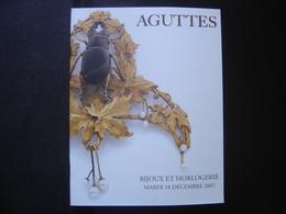 Catalogue Vente Aux Encheres BIJOUX ORFEVRERIE JEWELERY 54 Pages AGUTTES - Kunst