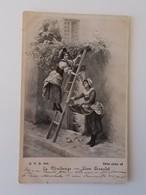 CPA.- La Vendange, Léon Girardet , Poststempels Luxembourg-ville Vers Bruxelles, 1901 - NO REPRO - Fantaisies