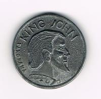 &-  HERDENKINGSMEDAILLE  KING JOHN - ROBA - RDOH - DIVA ( PANORAMA) 1972 ? - Pièces écrasées (Elongated Coins)