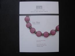 Catalogue Vente Aux Encheres BIJOUX ORFEVRERIE JEWELERY 100 Pages PIERRE BERGE - Kunst