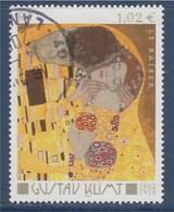 = Gustav Klimt  Le Baiser N°3461 Oblitéré - Gebraucht