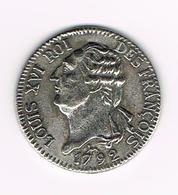)  PENNING  COLLECTION - BP - LOUIS XVI ROI DES FRANCOIS 1792 - Elongated Coins