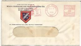 ESTADOS UNIDOS USA 1938 NAVIDAD SANTA TOY JUGUETE CHRISTMAS  FRANQUEO MECANICO METER - Juegos