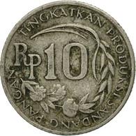 Monnaie, Indonésie, 10 Rupiah, 1971, TTB, Copper-nickel, KM:33 - Indonésie