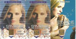 """3 Télécartes De FRANCE """" AL PACINO - SIMONE """" - 50 U 08/02 ( N° 1202 Et 1203 - Cinéma ) - Cinema"""
