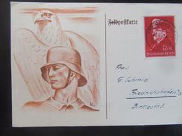 Postkarte Postcard - Soldat Mit Stahlhelm Und Adler 1941 - Deutschland