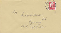 Denmark Deluxe Brotype IId NYBORG (AVNSLEV) 1980 Cover Brief ULLERSLEV Margrethe II. Stamp VERY SCARCE Cancel !! - Briefe U. Dokumente