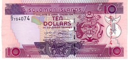 Solomon Islands P.27 10 Dollars 2008 Unc - Isola Salomon