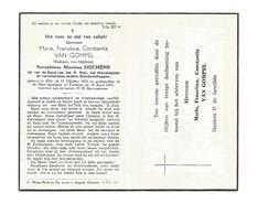 D 266. MARIA VAN GOMPEL Wed. S. Duchene - °MOL 1874 En +TURNHOUT 1951 - Images Religieuses