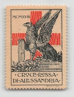 "07442 ""CROCE ROSSA DI ALESSANDRIA - MCMXVIII (1918)"" ERINN. ORIG., MAI APPLICATO - Erinnofilia"