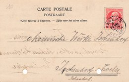 Carte Perfore Perfin Eiffe And Co Antwerpen Anvers - Perfins
