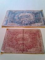 2 Billets De Monaco 50 Et 25 Centimes - Mónaco