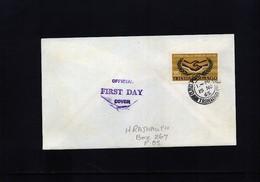 Trinidad And Tobago 1965 International  Co-operation Year FDC - Trinidad & Tobago (1962-...)