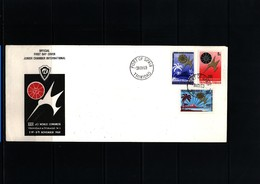 Trinidad And Tobago 1969 Junior Chamber World Congress FDC - Trinidad & Tobago (1962-...)