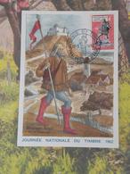 Carte Maxi - Journée Du Timbre - (51) Châlons Sur Marne - 17.3.1962 - FDC 1er Jour Coté 6€ - Cartes-Maximum