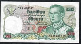THAILAND P8810 BAHT 1981 Signature 53  XF NO P.h. ! - Tailandia