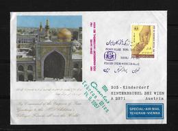SPECIAL-AIR MAIL TEHERAN-VIENNA → 14.09.1967 With QUANTAS - Iran