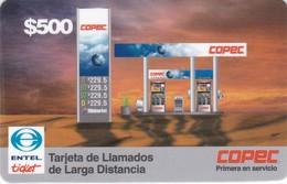 Chile, CHI-Entel- ? , $500, Tarjeta De Llamados De Larga Distancia, Copec, Mint, 2 Scans. - Chile