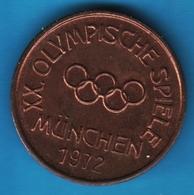 JETON XX. OLYMPISCHE SPIELE MÜNCHEN 1972 - Alemania