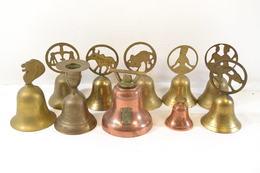 Collection De Cloches En Laiton Ou Cuivre, Semi-moderne. - Campanas