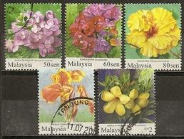 Malaysia 200- Fleurs Flowers Obl - Malaysia (1964-...)