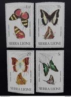 Sierra Leone 1980** Mi.614-17 Butterflies MNH [20;31] - Papillons