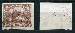 Tschechoslowakei Nr.8         O  Used       (1496) Perfin: ME S - Tchécoslovaquie