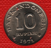 INDONESIA 10 RUPIAH 1971 FAO KM# 33 - Indonesia