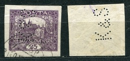 Tschechoslowakei Nr.28         O  Used       (1498) Perfin: ME S - Tchécoslovaquie