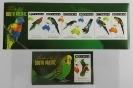 Tuvalu 2011** Klb.1730-35 + Bl.170. Parrots Of The South Pacific MNH [14;25] - Parrots