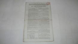 LES DEUX TERREURS - TABLEAU HISTORIQUE - TERREURS DE 1793 / TERREUR DE 1815 - ( LA QUOTIDIENNE DE 1819.) - 1800 - 1849