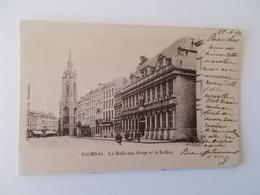 CPA.-  1902 TOURNAI - La Halle Aux Draps Et Le Beffroi , No Repro - Tournai