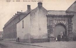 Mons Entrée De L'Hôpital Militaire Circulée En 1913 Avec Taxe - Mons
