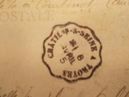 Marcophilie  Cachet Lettre Obliteration -  Convoyeur Chatillon-s-Seine à Troyes - 1915 - (2058) - Marcophilie (Lettres)